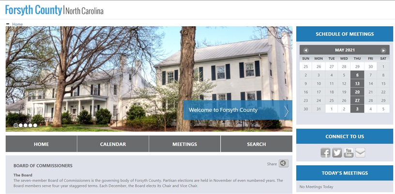 Forsyth County has new searchable CivicWeb Portal for commissioners meetings