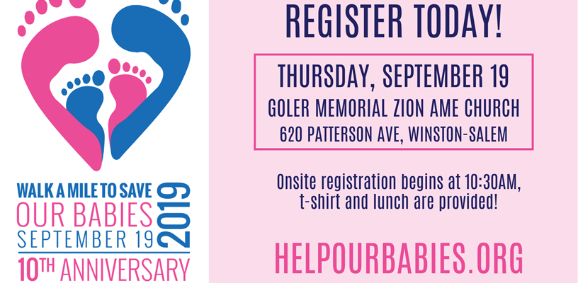 "Event Registration for the 10th Annual ""Walk A Mile To Save Our Babies"" is OPEN!"