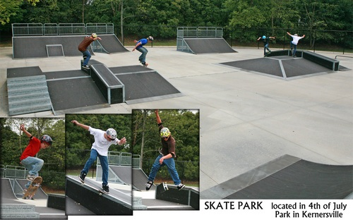 Skate Park - located in 4th of July Park in Kernersville