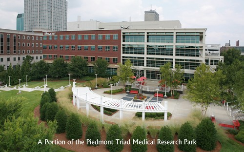 A portion of the Piedmont Triad Medical Research Park